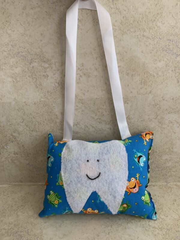 tooth fairy face Hanging pillow cotton frogs blue Boy/girl Kids Leopard Print N
