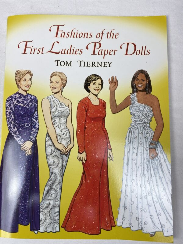 Dover Fashions of First Ladies Paper Dolls Tom Tierney New Obama Reagan Kennedy