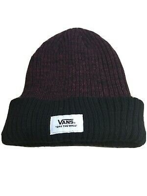 Vans Of The Wall Beanie Hat Maroon Black