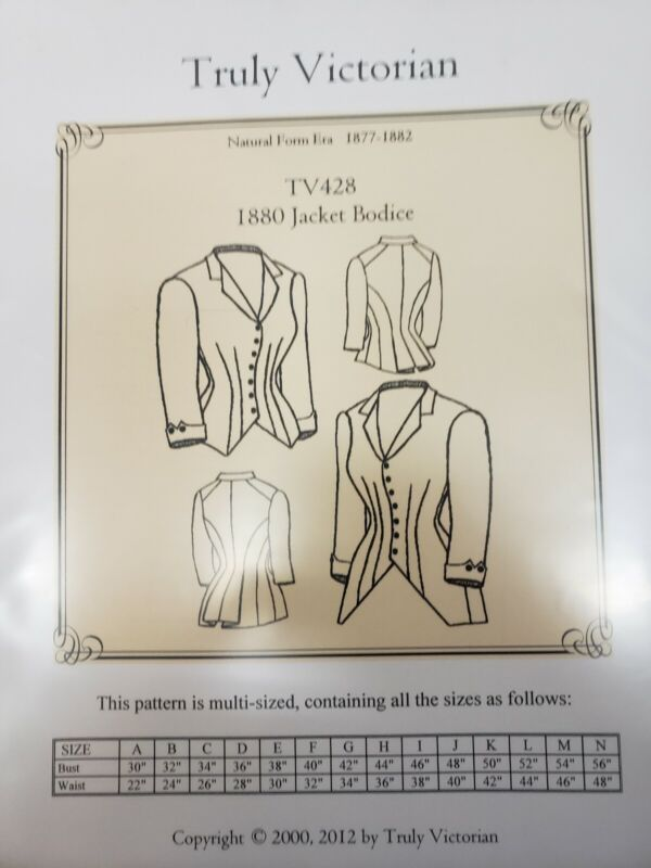 Truly Victorian Sewing Pattern TV428 1880