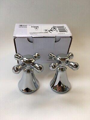 Delta Cross Bath Faucet/bidet Handles 2 -H295cz Chrome Silver Pair New
