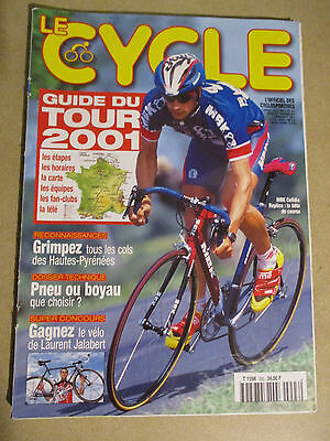 LE CYCLE N°293 : JUILLET 2001 : GUIDE DU TOUR DE FRANCE AVEC CARTE POSTER