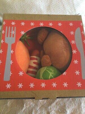 Festive Christmas dinner dog toys
