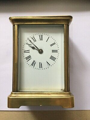 CARRIAGE CLOCK FRENCH PARIS IN GOOD CONDITION GLASS IS FINE,LOOK NICE.8 DAYS.