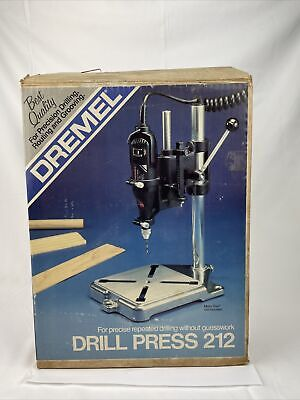 Vintage Dremel Drill Press 212 Stand Portable Tool Accessory