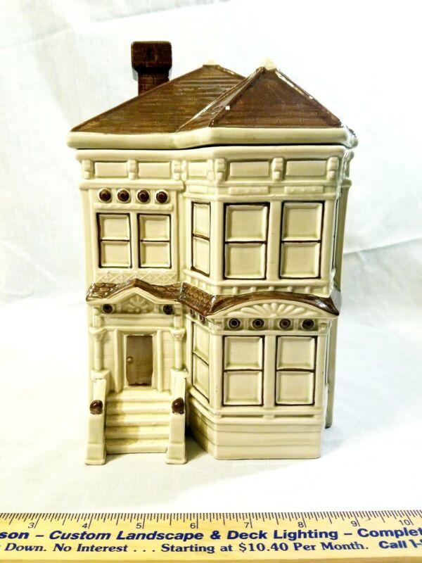 1979 OTAGIRI Cookie Jar Victorian Home Brown And Tan