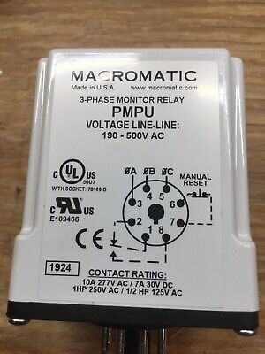 Macromatic Voltage Monitor Relay Vmp120a 70169-d