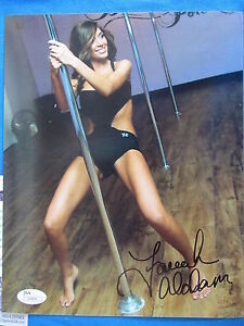 MTV TEEN MOM FARRAH ABRAHAM SIGNED COLOR 8X10 W/ EXACT PROOF + JSA COA I09494