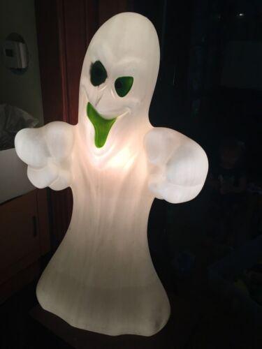 Vintage General Foam Plastics Large Blow Mold Light Up Halloween Ghost 35 Inch