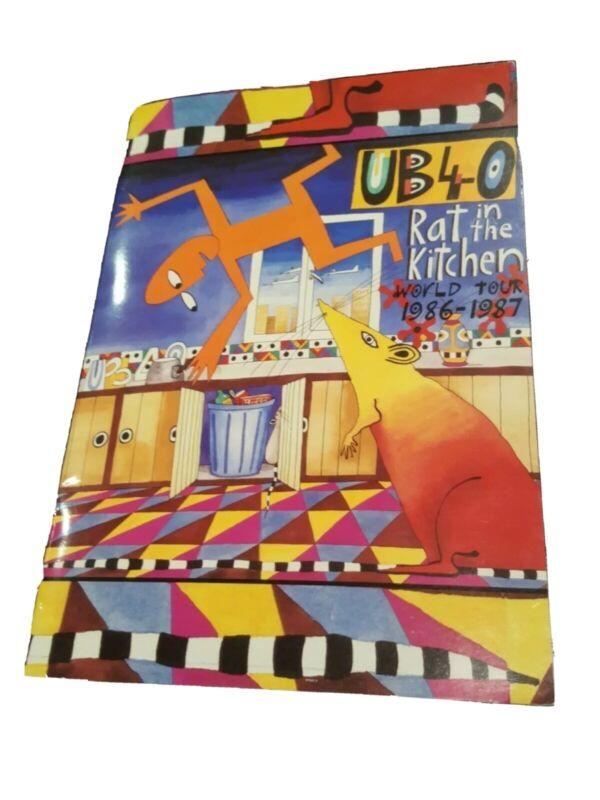 UB40 Rat In The Kitchen World Tour 1986-1987 US TOUR PROGRAM Free Shipping RARE!