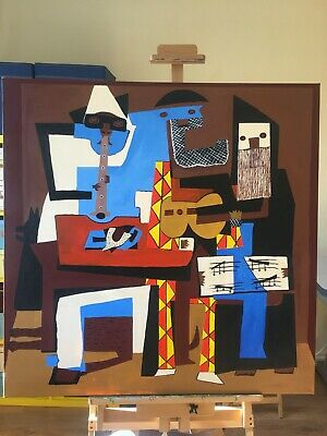 Picasso - The Musicians - Original Painting - Beautiful Copy of the Famous Origi