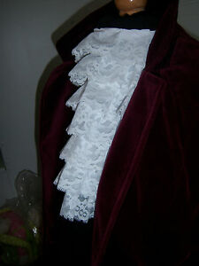 VICTORIAN-STYLE-WHITE-LACE-CRAVAT-JABOT-FANCY-DRESS-NEW