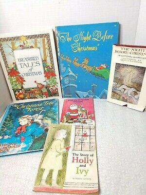 Christmas Picture Books for Children Lot of 6 Vintage Book ()