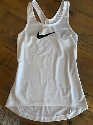 Ladies White Nike Dri Fit Vest Size XS