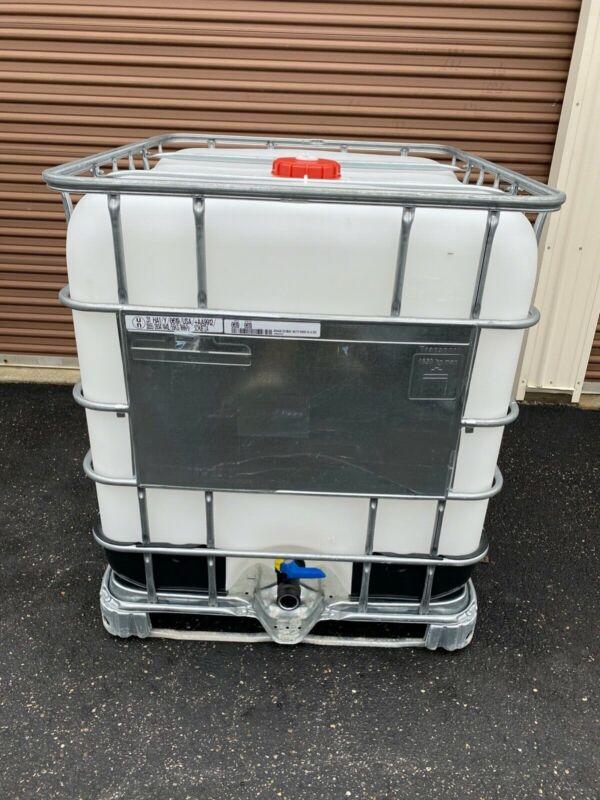 Food Grade IBC 275 Gallon Tote Tank - SUPER CLEAN - Triple Washed