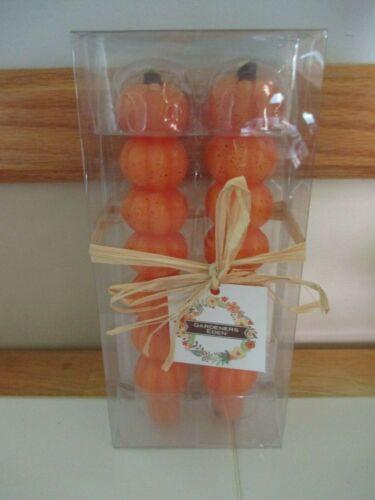 NIB Gardeners Eden, Set Of 2, Autumn Stacked Pumpkin Candles, Fall, Thanksgiving