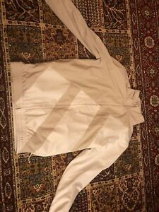 EQT Jacket white and grey Negotiable Price