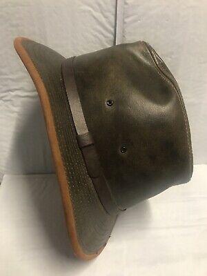 HATQUARTERS U.S.A. By HENSCHEL:Brown Genuine Leather Hat (Men's Size Large)