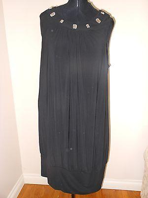 Ksl   Karin Stevens Black Bubble Dress With Rhinestone Detail 20W    Nwot