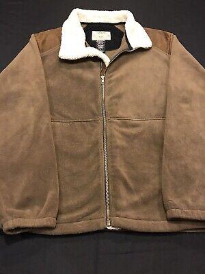 Tag Safari Outdoor Clothing Jacket/Fleece/Zip Up-Men Sz.L-Brown/Beige-LS