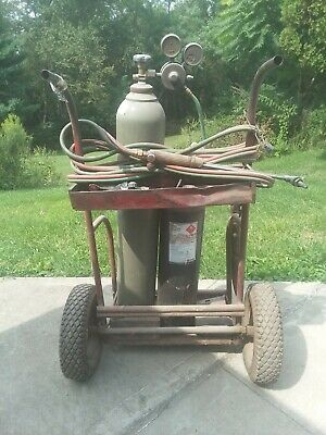 .victor Oxygen Acetylene Torch Set Complete Large With Cart
