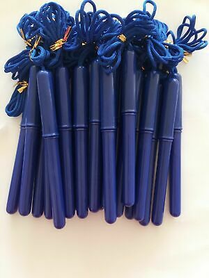 Wholesale Pack Of 24 Blue Barrel Rope On Pen 1.0mm Tip Ink Black