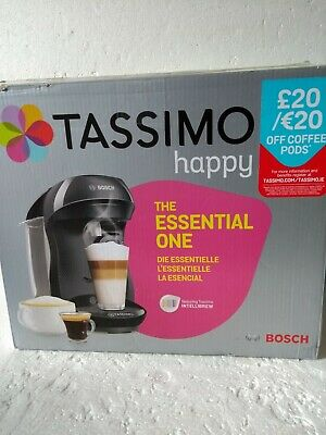 Bosch TASSIMO Happy TAS1002GB Coffee Pod Machine- Black