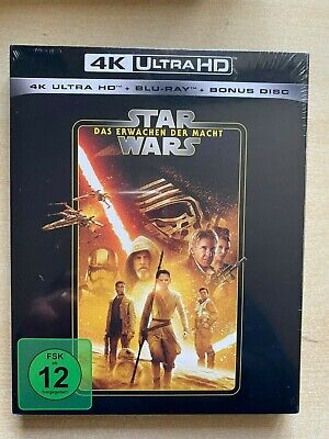 Star Wars: The Force Awakens 4K UHD+Blu Ray. Import. New. Sealed