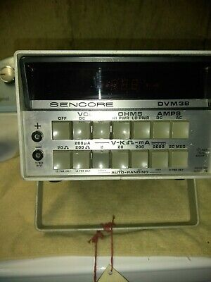 Sencore Dvm 38 Multimeter Bench Lab Used To Test Instruments Wmanuals