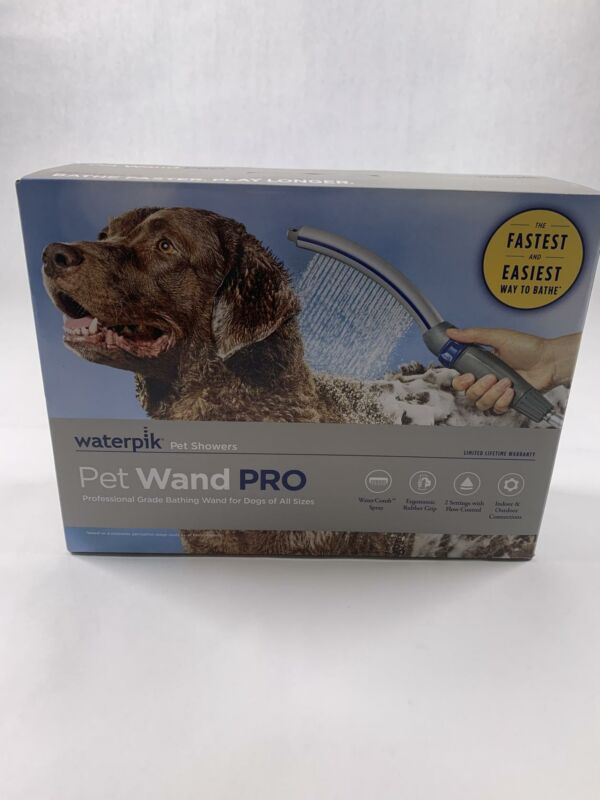 Waterpik PPR-252 Pet Wand Pro Shower Sprayer  2.5 GPM, Dog Cleaning, Blue/Grey