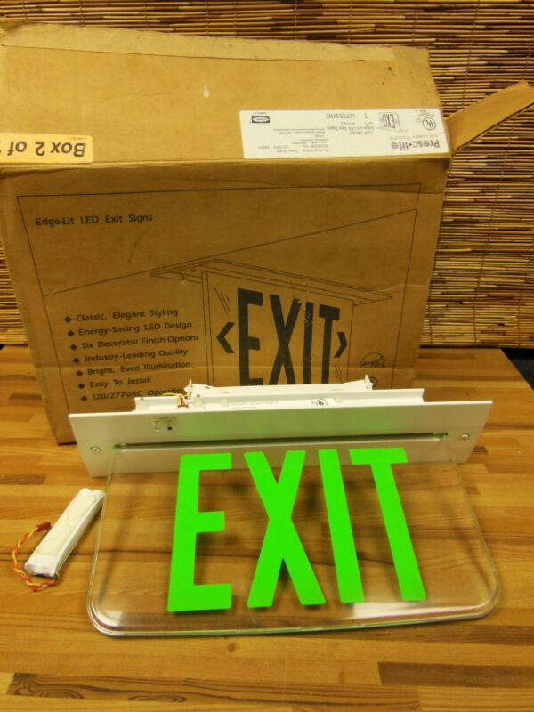 Hubbell prescolite EXIT sign LED LEPCSGXWE 120V GREEN