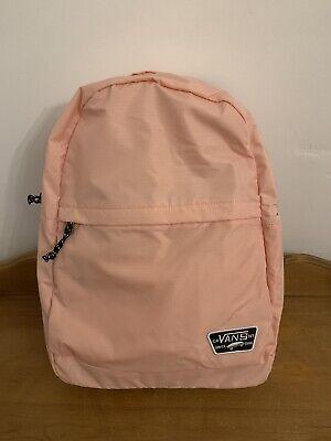 VANS Pink Rucksack Backpack School Bag NEW - UNUSED