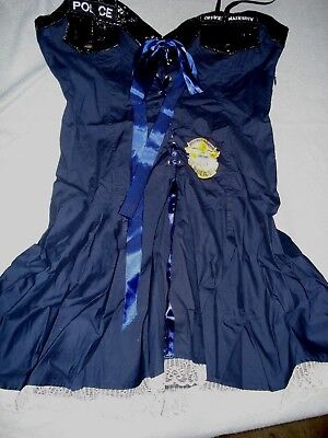 Cute Police Officer Naughty Cop Dress Costume - Cosplay Party - 1 PC Size M/L (Womens Police Officer Costume)