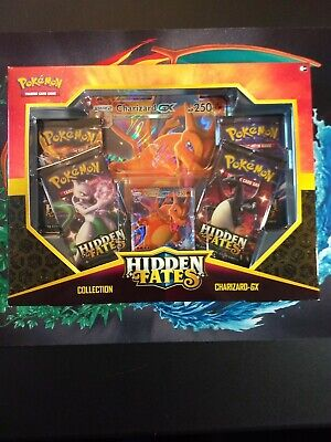 2019 Pokemon Hidden Fates Sealed Charizard GX Collection Box