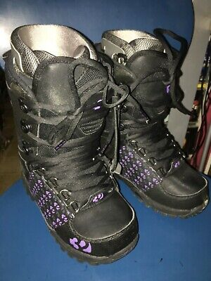 thirtytwo 32 Women's Lashed black Snowboard Boots US Ladies sz. 7 Thirty Two
