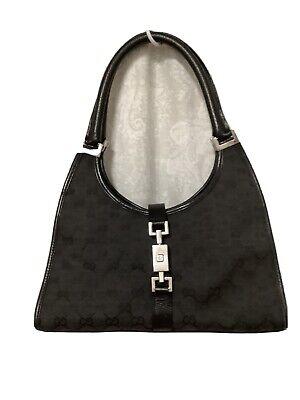 Gucci Black Jacquard Monogram Jackie O Shoulder Handbag