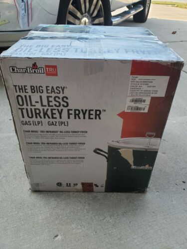 NEW! Char-Broil The Big Easy Tru-Infrared Oil-Less Turkey Fr