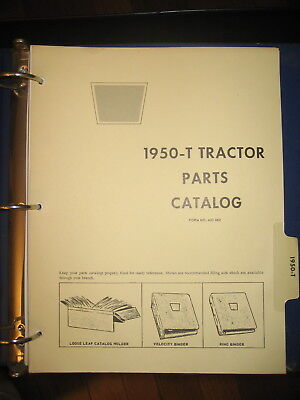 Oliver 1950t 1950-t Tractor Parts Manual Book Catalog