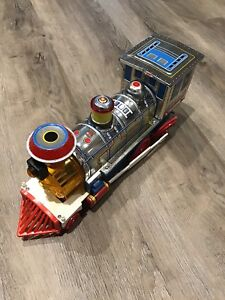 Vintage giant locomotive  tin train