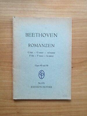 Noten. Beethoven. Romanzen opp. 40 und 50. Taschenpartitur.