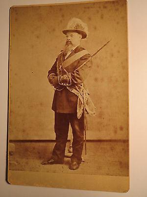 Washington D.C. USA - stehender Freimaurer ? in Uniform Hut Schärpe Säbel / KAB
