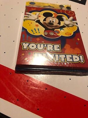 Mickey Mouse Thank You Cards (Disney Mickey Mouse Clubhouse Kids Birthday Party Invitations Thank You)