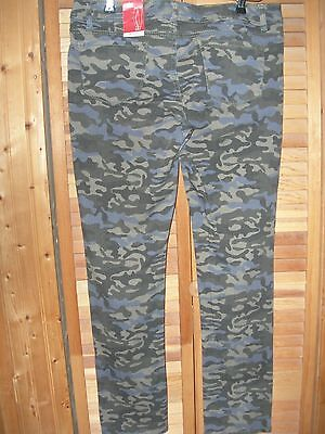 (NOBO Green SPARKLE Camouflage CAMO STRETCH SKINNY Jean Pant 1 LAST ONE!!!)