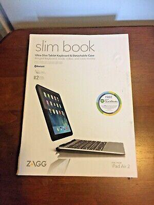 ZAGG Slim Book Ultra-Slim Tablet Keyboard & Case for iPad Air 2