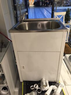 Laundry tub sink with tap