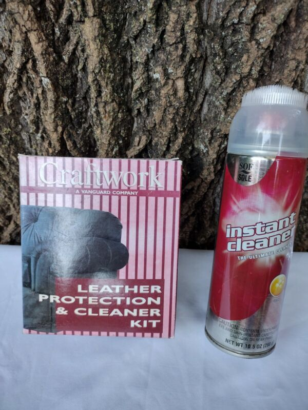 CRAFTWORK LEATHER PROTECTION &CLEANER KIT WITH SOF SOLE  INSTANT SHOE CLEANER...
