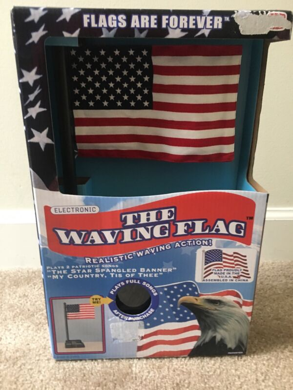 The Waving Flag Realistic Action Electronic Flags Forever July 4th Patriotic