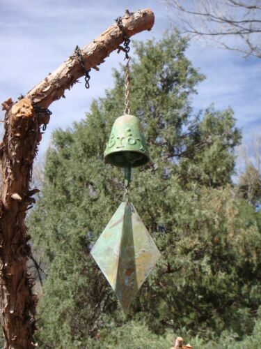 "Arcosanti Soleri 14"" Bronze Wind Bell - Unique 2.5"" Bell IOIOIOIOI Markings NEW"