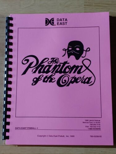 The PHANTOM of the OPERA by Data East Manual