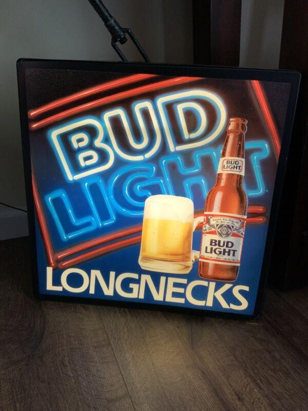 Bud Light Longnecks Lighted Bar Sign, Man Cave